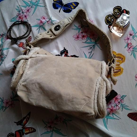 GAP Handbags - Gap Hobo Shoulder Bag Sherpa Microfiber Cream VTG